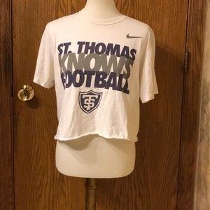 Nike U of St. Thomas Football Crop Top T-shirt